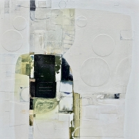 """Distant Intrigue 30"""" x30"""" work on canvas/panel"""