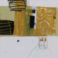 "Gracious Path II  12"" x12"" work on paper mounted on panel"